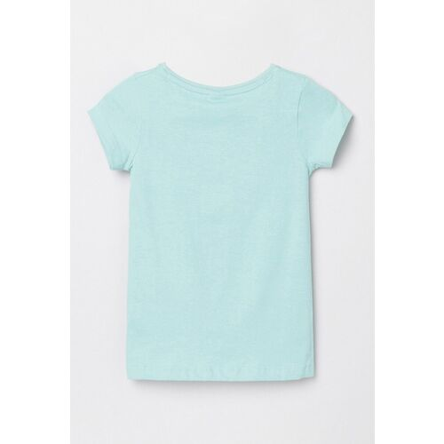 max Girls Blue Printed Twisted Top