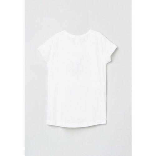 max Girls White Printed Top