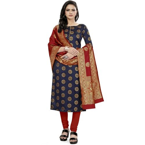 Rajnandini Silk Woven Salwar Suit Material(Unstitched)