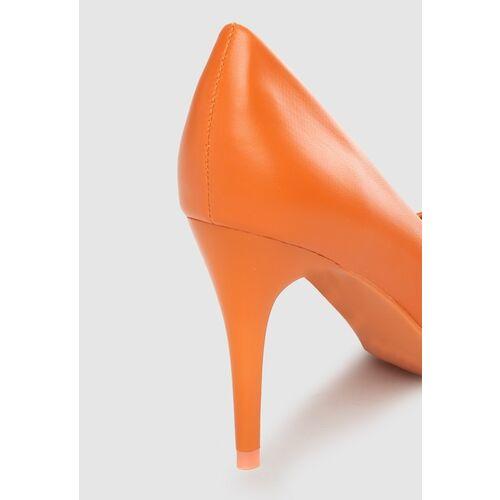 DressBerry Women Orange Solid Pumps