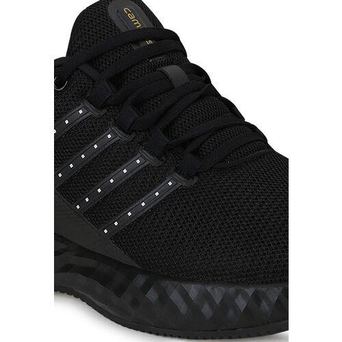 Campus Men Black Mesh Running Shoes