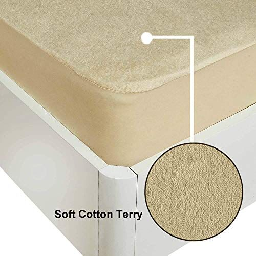 Urban Basics Terry Cotton Water Proof Mattress Protector Cover for Bed