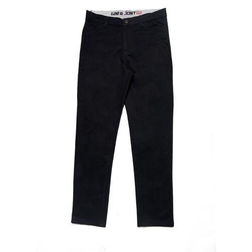 GINI & JONY Regular Fit Boys Black Trousers