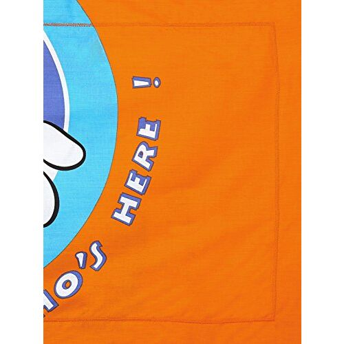 Bombay Dyeing Disney Classic Single Bedsheet with 1 Pillow Cover - Blue and Orange