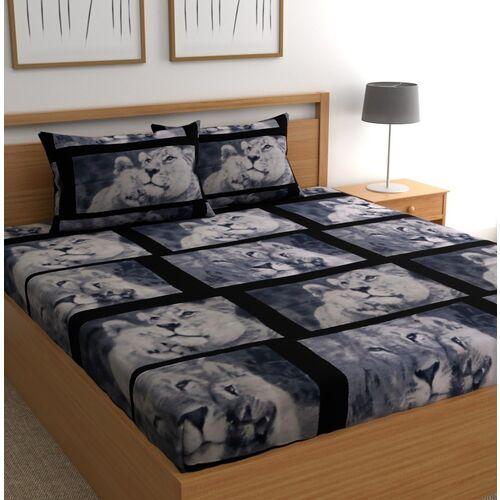 CHHAVI INDIA 104 TC Microfiber Double Cartoon Bedsheet(Pack of 1, Multicolor 1)