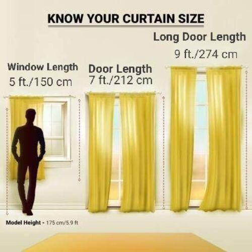 Curtain King Premium Single 1 Pc. Fancy Beautiful Jalebi Printed Polyester Semi Transparent Eyelet Curtain