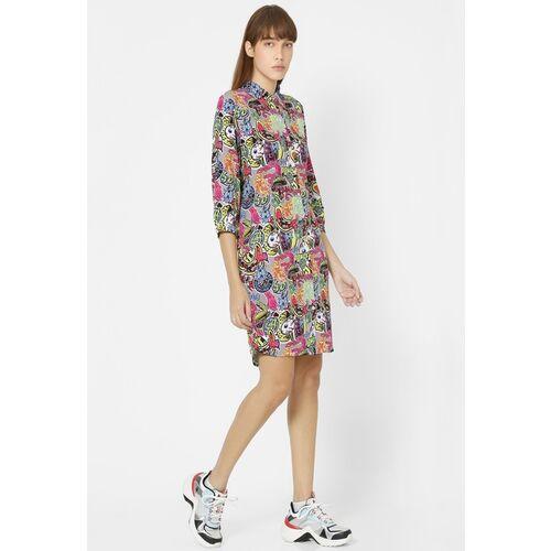 ONLY Spongebob Women Multicoloured Printed Shirt Dress