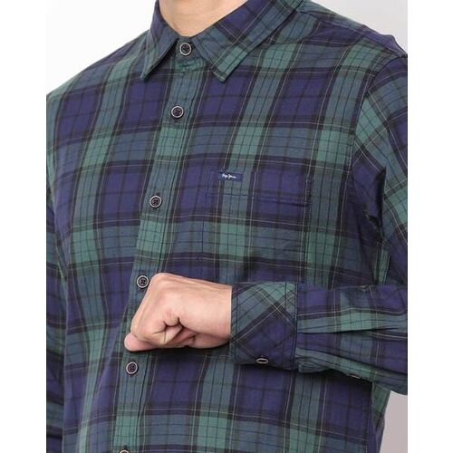 Pepe Jeans Checked Shirt with Patch Pocket