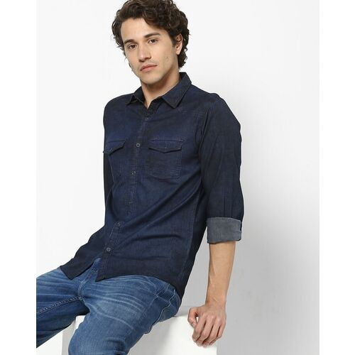 Pepe Jeans Washed Shirt with Flap Pockets
