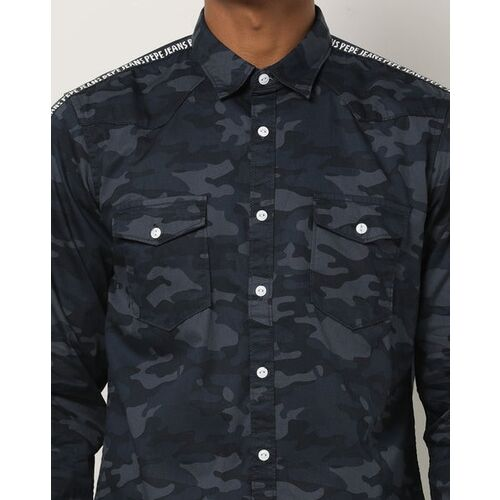 Pepe Jeans Camouflage Print Shirt with Flap Pockets