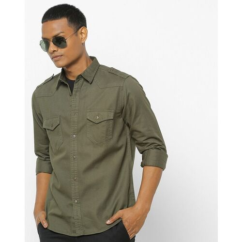 Pepe Jeans Shirt with Buttoned Flap Pockets