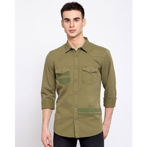 Pepe Jeans Spread Collar Shirt with Flap Pockets