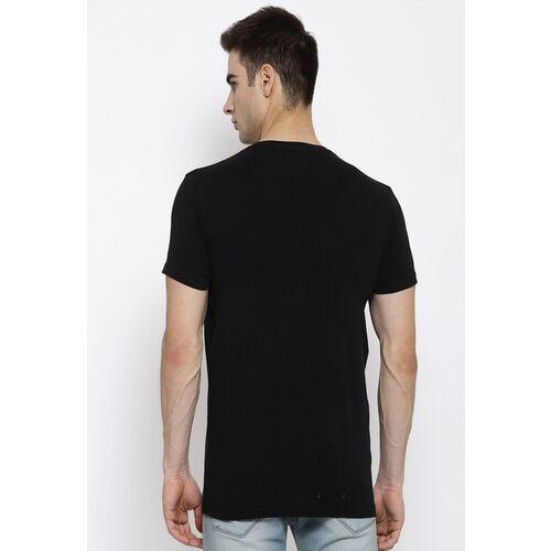 Pepe Jeans Men Black Printed Round Neck T-shirt