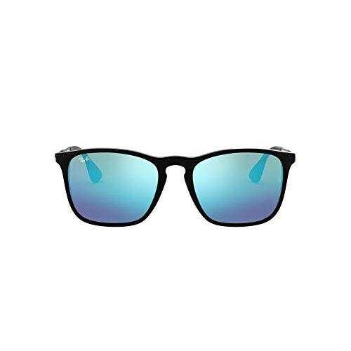 Ray Ban Ray-Ban Mens 0RB4187 Square Sunglasses, Black,Light Green