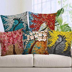 AEROHAVEN Set of 5 Decorative Hand Made Velvet Throw/Pillow Cushion Covers - CC-164 -
