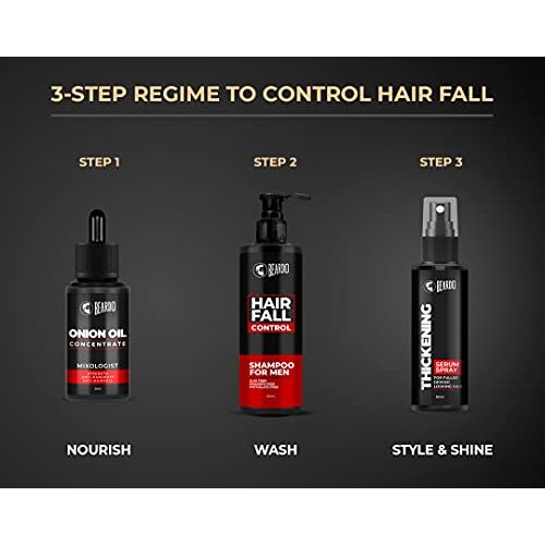 Beardo Onion Oil Concentrate for Hair growth, beard Growth and Hair Fall Control (25 ml)   Natural   Non-sticky, Non-greasy   Controls Hairfall, Promotes Hair Growth