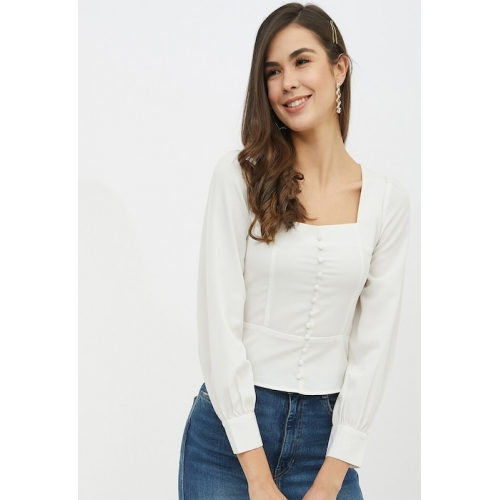 Harpa White Solid Top