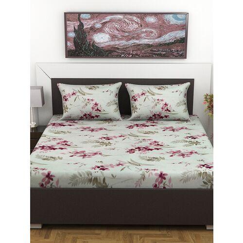 lo svago 100% cotton 120 tc double bedsheet |blue