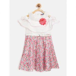 Nauti Nati Nautinati Midi/Knee Length Casual Dress(Multicolor, Short Sleeve)