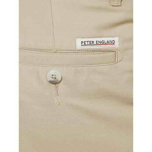 Peter England beige cotton blend formal trouser
