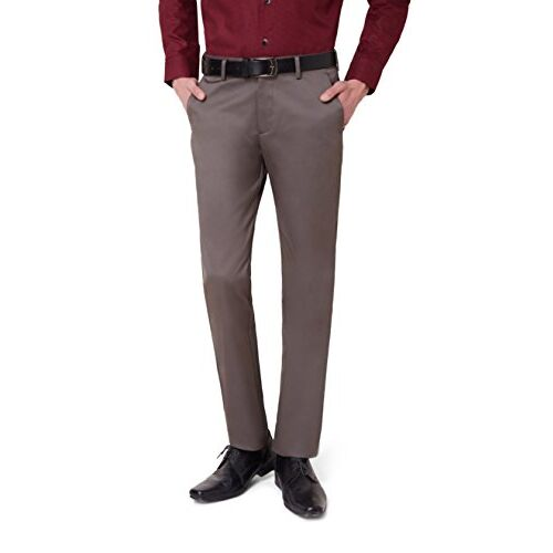 Peter England Men's Relaxed Formal Trousers