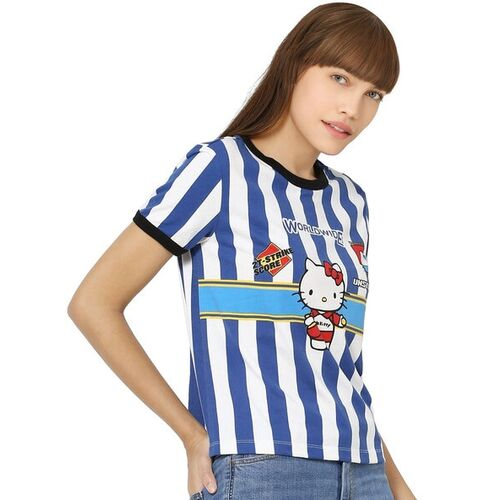 Only Hello Kitty Print Crew-Neck T-shirt