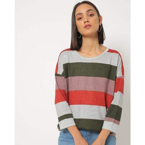 Only Colourblock Striped Crew-Neck T-shirt