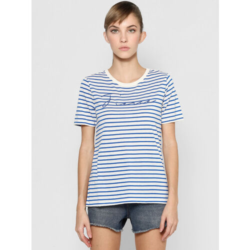 Only Victoria Blue & White Striped T-Shirt