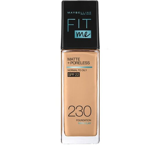 MAYBELLINE NEW YORK Fit Me Matte+Poreless Liquid Foundation (With Pump & SPF 22), 230 Natural Buff, 30ml Foundation(230 Natural Buff, 30 ml)