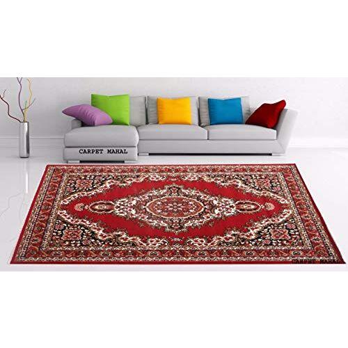 Carpet Mahal Carpet (Red, Acrylic, 5 x 7 Feet)