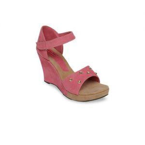 LONDON STEPS Women Pink Solid Sandals