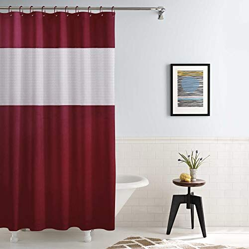 Story@Home PVC Waterproof Water Repellent Designer Shower Curtains Mildew Resistant with 12 Hooks - 78