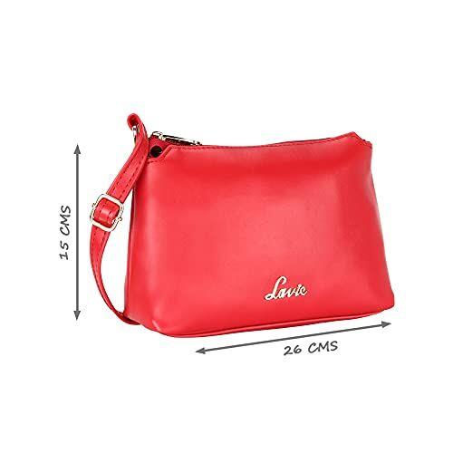 Lavie Rigel Top Zip Vertical Sling Bag (Red)