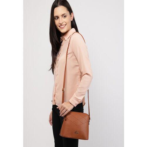 Lavie Tan Brown Solid Sling Bag