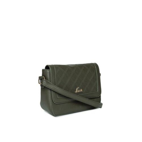 Lavie Olive Green Solid Sling Bag