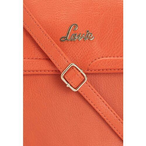 Lavie Orange Solid Sling Bag