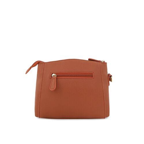 Lavie Brown Solid Sling Bag
