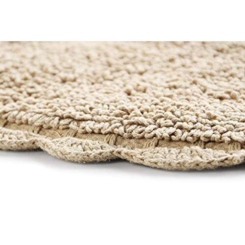 SASHAA WORLD Super Absorbant Cotton Non Slip Bath Mat Bathroom Rugs (40 x 60 cm)