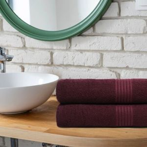TRIDENT Cotton 380 GSM Bath Towel Set(Pack of 2)