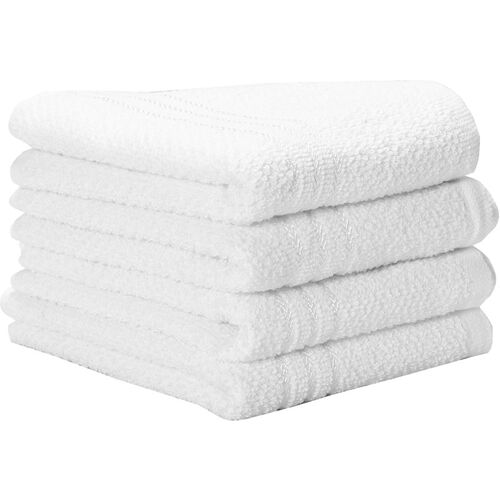 Silver Linens Cotton 410 GSM Hand Towel Set(Pack of 4)