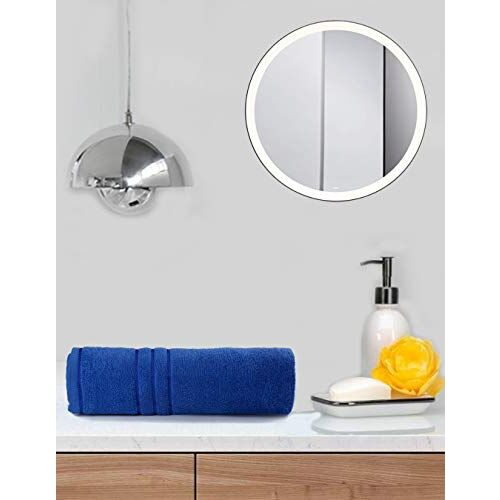Sassoon 100% 380 GSM Melrose Soft Touch Plain Bath Towel for Bathroom 2 Piece Hand Towel Set, 40x60 cm