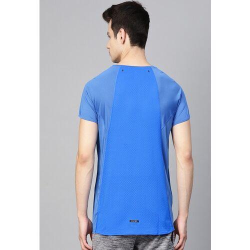 ADIDAS Men Blue Solid HEAT.RDY Running T-shirt