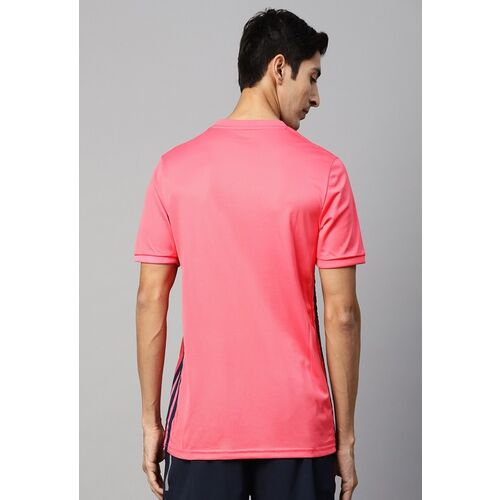 ADIDAS Men Pink and Blue Printed Real Madrid Away Football Jersey