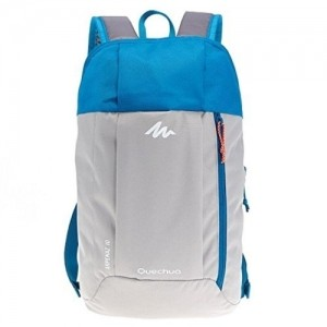 Quechua Gray & Blue Hiking Backpack