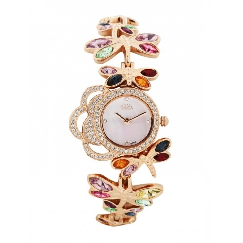 Buy Titan Raga Women Rose Gold Toned Watch 95011wm01j Online