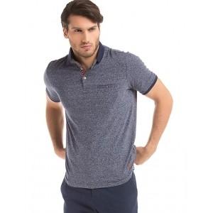 TRUE BLUE  Navy Melange Regular-Fit Polo Shirt