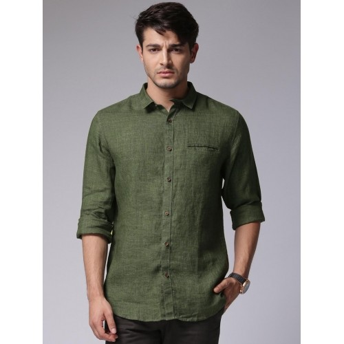 Buy True Blue Men Olive Green Casual Shirt online | Looksgud.in