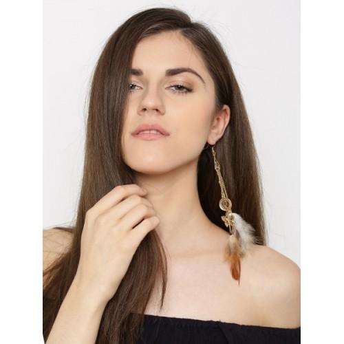Blueberry Spring Sparkle Golden Metal Earring