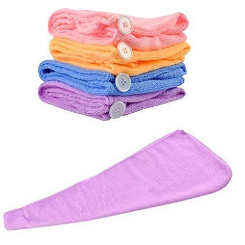 FIGMENT Hair Towel Wrap Absorbent Towel Hair-Drying Quick Dry Shower Caps Bathrobe Magic Hair Warp Towel Super Quick-Drying Microfiber Bath Towel Hair Dry Cap