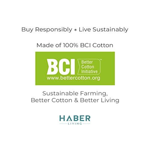 HABER Chevron Collection Light Weight Cotton Super Absorb Texture Drying Towel- Pack of 2